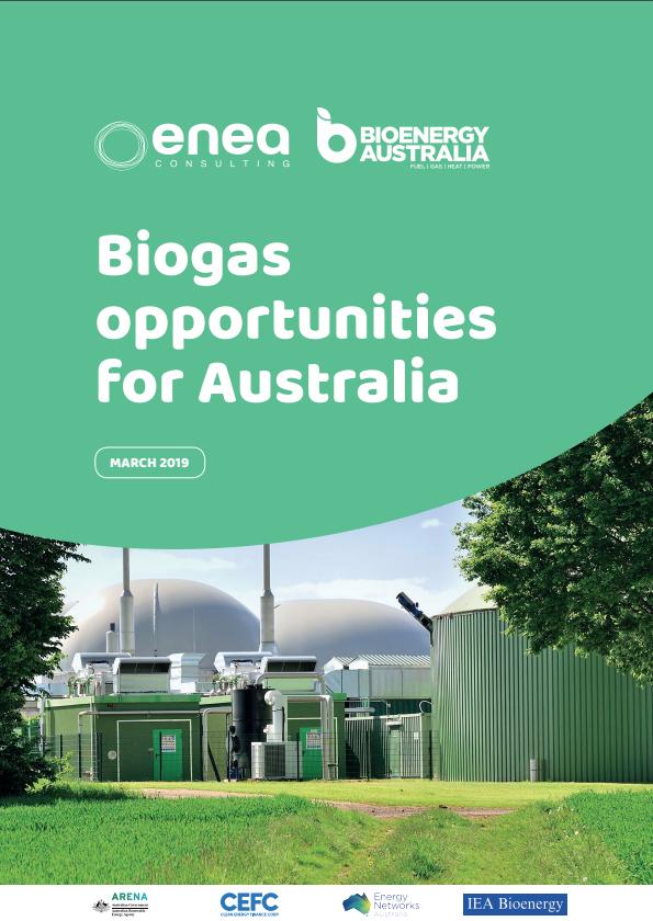 New Publication – Biogas Opportunities for Australia   Bioenergy