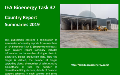 New Publication – IEA Bioenergy Task 37 (Energy from Biogas) – Country Report Summaries 2019