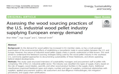 New Publication – Assessing the wood sourcing practices of the U.S. industrial wood pellet industry supplying European energy demand