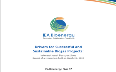 New Publication – Drivers for Successful and Sustainable Biogas Projects: International Perspectives  Report of a symposium held on March 26, 2020