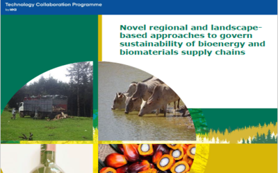 PRESS RELEASE – IEA Bioenergy publishes a new report on Novel Regional and Landscape Based Approaches to Govern Sustainability of Bioenergy and Biomaterials Supply Chains