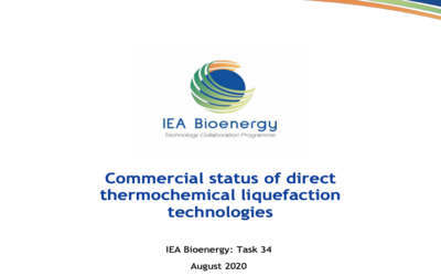 New Publication – Commercial status of direct thermochemical liquefaction technologies