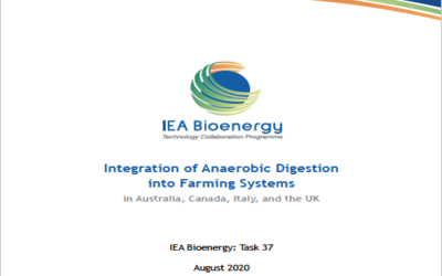 New Publication – Integration of Anaerobic Digestion into Farming Systems (in Australia, Canada, Italy, and the UK)