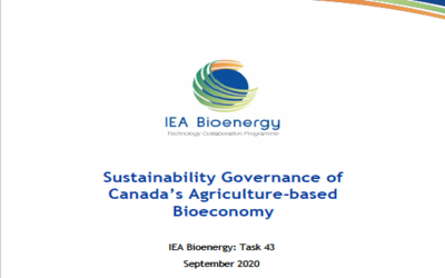 New Publication – Sustainability governance of Canada's agriculture-based bioeconomy