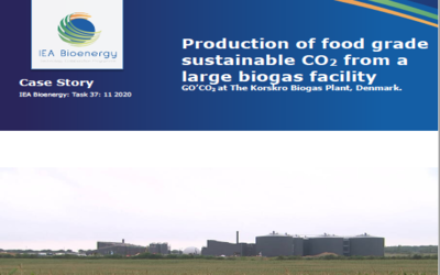 New Publication – Case story: Production of food grade sustainable CO2 from a large biogas facility (Denmark)