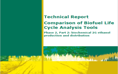 New Publication – Comparison of Biofuel Life Cycle Analysis Tools: biochemical 2G ethanol production and distribution