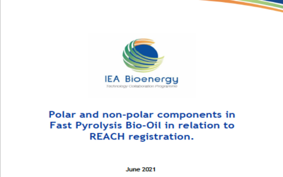 Polar and non-polar components in Fast Pyrolysis Bio-Oil in relation to REACH registration.